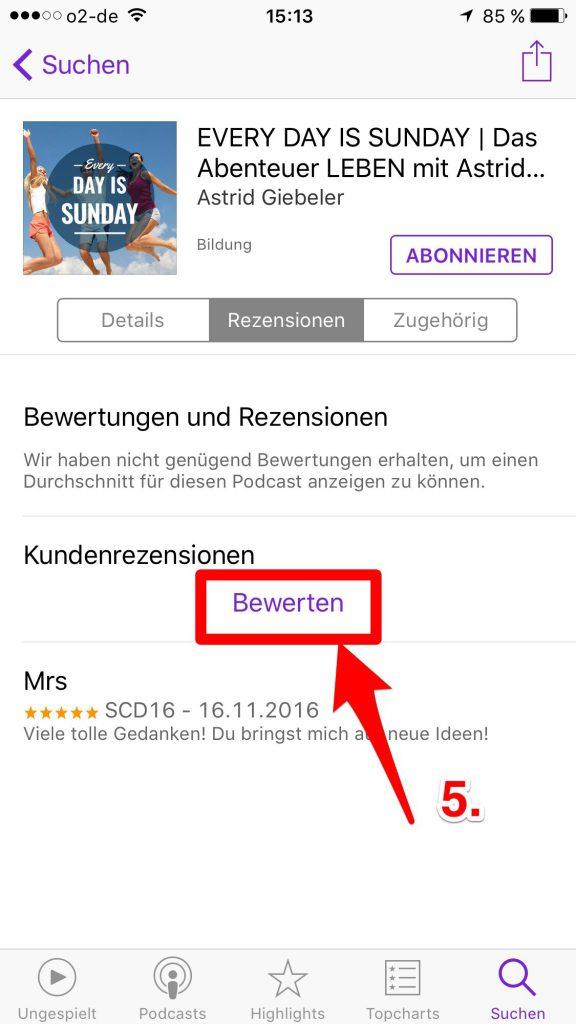 iTunes Bewertung 5